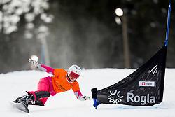 Ekaterina Tudegesheva (RUS) during Quarter-final Run of Ladie's Parallel Giant Slalom at FIS Snowboard World Cup Rogla 2016, on January 23, 2016 in Course Jasa, Rogla, Slovenia. Photo by Urban Urbanc / Sportida