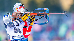 16.01.2020, Chiemgau Arena, Ruhpolding, GER, IBU Weltcup Biathlon, Sprint, Herren, im Bild Felix Leitner (AUT) // Felix Leitner of Austria during the men's sprint competition of BMW IBU Biathlon World Cup at the Chiemgau Arena in Ruhpolding, Germany on 2020/01/16. EXPA Pictures © 2020, PhotoCredit: EXPA/ Stefan Adelsberger