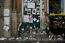 UK ENGLAND LONDON 14JUL17 - Messages for victims of the Grenfell Tower fire at the Notting Hill Methodist Church in north Kensington, west London, one month after the disaster that left over 80 people dead.<br /> <br /> jre/Photo by Jiri Rezac<br /> <br /> &copy; Jiri Rezac 2017