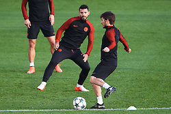 Sergio Aguero of Manchester City trains with David Silva - Mandatory by-line: Matt McNulty/JMP - 31/10/2016 - FOOTBALL - City Football Academy - Manchester, England - Manchester City v Barcelona - UEFA Champions League - Group C