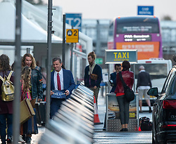 Will Ferrell and Rachel McAdams filming scenes at Glasgow Airport for their new movie Eurovision.