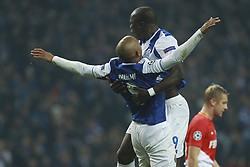December 6, 2017 - Na - Porto, 06/12/2017 - Football Club of Porto received, this evening, AS Monaco FC in the match of the 6th Match of Group G, Champions League 2017/18, in Estádio do Dragão. Brahimi celebrates goal  (Credit Image: © Atlantico Press via ZUMA Wire)