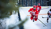 The Yukon Mustangs hosted the Notre Dame Hounds for a five-game series between the two clubs in December. The series included a special outdoor classic at Mt. Lorne Community Centre's outdoor rink.