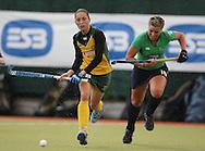Setanta Sports Trophy, The National Hockey Stadium, UCD, Belfield, Dublin 11/6/2008.Ireland vs South Africa.Ireland's Louisa Moore and Kathleen Taylor of South Africa.Mandatory Credit ©INPHO/Lorraine O'Sullivan