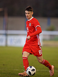 BANGOR, WALES - Saturday, November 17, 2018: Wales' Dylan Levitt during the UEFA Under-19 Championship 2019 Qualifying Group 4 match between Sweden and Wales at the Nantporth Stadium. (Pic by Paul Greenwood/Propaganda)