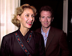 MR & MRS ASHLEY HICKS granson of the late Earl Mountbatten of Burma, at a party in London on 3rd October 2000.OHN 111