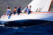 Good Expectation sailing in the 2010 Antigua Classic Yacht Regatta, Windward Race, day 4.