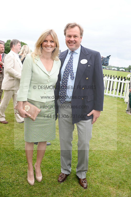 The MARQUESS & MARCHIONESS OF MILFORD HAVEN at the 2013 Cartier Queens Cup Polo at Guards Polo Club, Berkshire on 16th June 2013.