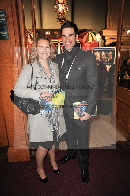 LAURA JENKINS and GETHIN JONES at the gala opening night of Cirque du Soleil's Varekai at the Royal Albert Hall, London on 5th January 2010.