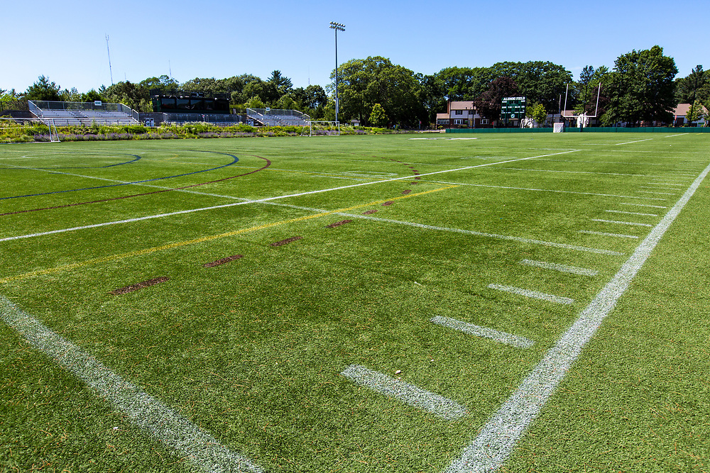 Football field, Mount Ida College, Newton, MA, 6/19/18.