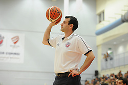 Andreas Kapoulas head coach of Bristol Flyers - Mandatory byline: Dougie Allward/JMP - 07966 386802 - 19/09/2015 - BASKETBALL - SGS Wise Campus - Bristol, England - Bristol Flyers v Surrey Scorchers - British Basketball League