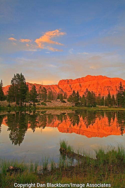 Sunset Reflection on Hayden Peak Uinta Mountains Utah