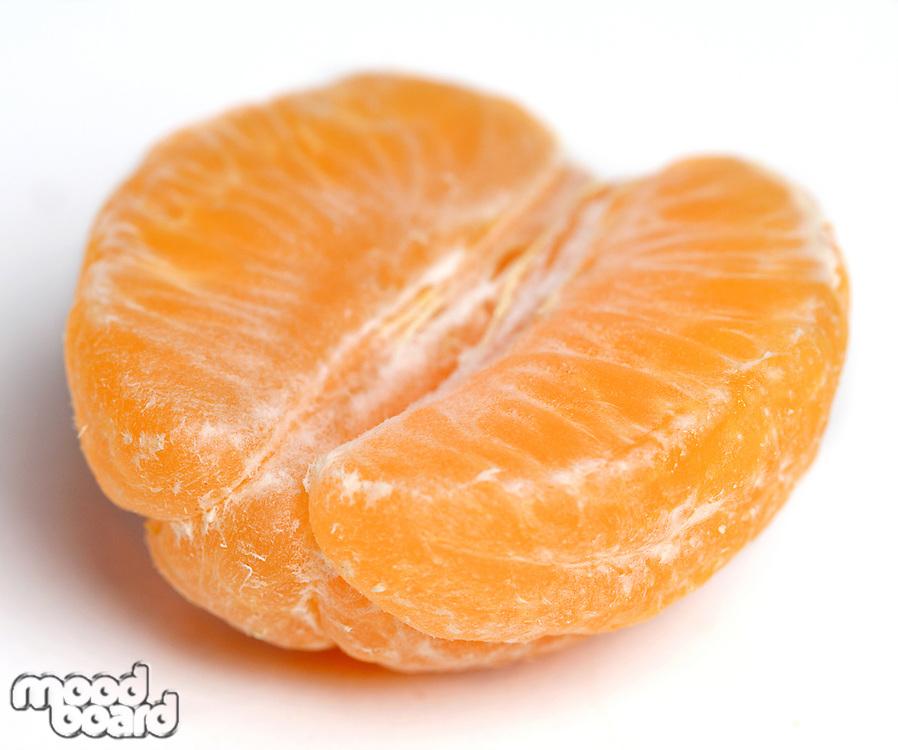 Close up of mandarin on white background