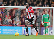 Brentford midfielder Toumani Diagouraga during the Sky Bet Championship match between Brentford and Brighton and Hove Albion at Griffin Park, London, England on 26 December 2015.