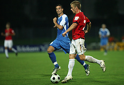 Gorazd Zajc (25) of Rudar  at 3rd Round of PrvaLiga Telekom Slovenije between NK HIT Gorica vs NK Rudar Velenje, on August 1, 2008, in Nova Gorica, Slovenija. Rudar won the match 2:0. (Photo by Vid Ponikvar / Sportal Images)