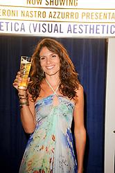 Actress GIOIA MARZOCCHI at the Launch of Peroni Nastro Azzurro Accademia del Film Wrap Party Tour held atThe Boiler House, 152 Brick Lane, London E1 on 25th August 2010.