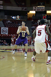 09 January 2007: Adam Koch. The Illinois State Redbirds, winless in the Missouri Valley Conference, knocked off the undefeated  Panthers of Northern Iowa 67-64 in overtime at Redbird Arena in Normal Illinois on the campus of Illinois State University.<br />