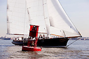 America 2.0 sailing in the New York Classic Week regatta.