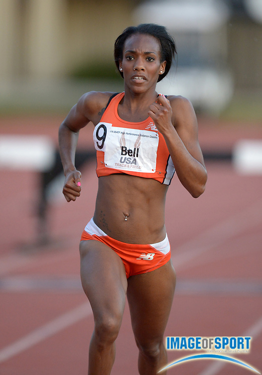 May 15, 2014; Los Angeles, CA, USA; Rolanda Bell places fourth in the womens steeplechase in 9:57.83 in the 2014 USATF High Performance Distance Classic at Occidental College.