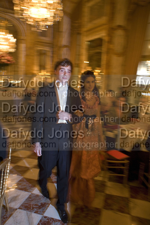 OCTAVIAN DONNELY AND COSIMA RAMIREZ RUIZ DE LA PRADA, Crillon Debutante Ball 2007,  Crillon Hotel Paris. 24 November 2007. -DO NOT ARCHIVE-© Copyright Photograph by Dafydd Jones. 248 Clapham Rd. London SW9 0PZ. Tel 0207 820 0771. www.dafjones.com.