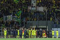 Joie Nantes / Supporters Nantes  - 20.12.2014 - Lorient / Nantes - 19eme journee de Ligue 1 -<br /> Photo : Vincent Michel / Icon Sport