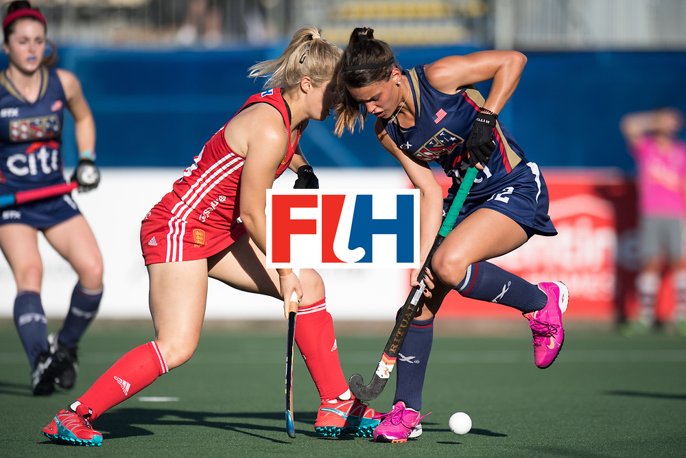 AUCKLAND - Sentinel Hockey World League final women<br /> Match id: 10304<br /> 15 USA v ENG (QF)<br /> Foto: Sophie Bray and Amanda Magadan <br /> WORLDSPORTPICS COPYRIGHT FRANK UIJLENBROEK