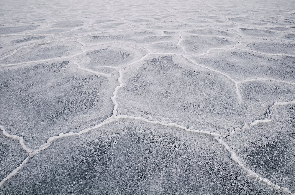 Salt pan patterns, Death Valley National Park. California