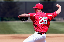 21 April 2007: Chris Krepline. Carthage College loses the first game of a double header by a score of 5-2 against the Illinois Wesleyan Titans.