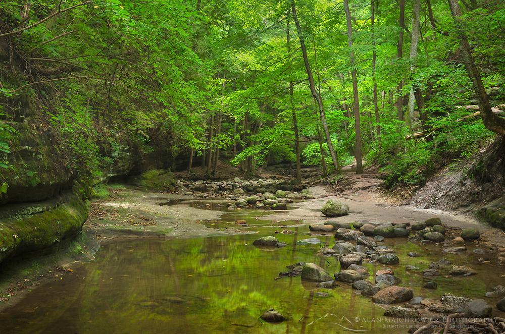 Matthiessen State Park IllinoisCrerek running through Dells area canyon. Matthiessen State Park, LaSalle County, Illinois