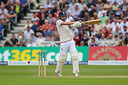Mark Wood batting during 2nd day of the Investec Ashes Test match between England and Australia at Trent Bridge, Nottingham, United Kingdom on 7 August 2015. Photo by Shane Healey.