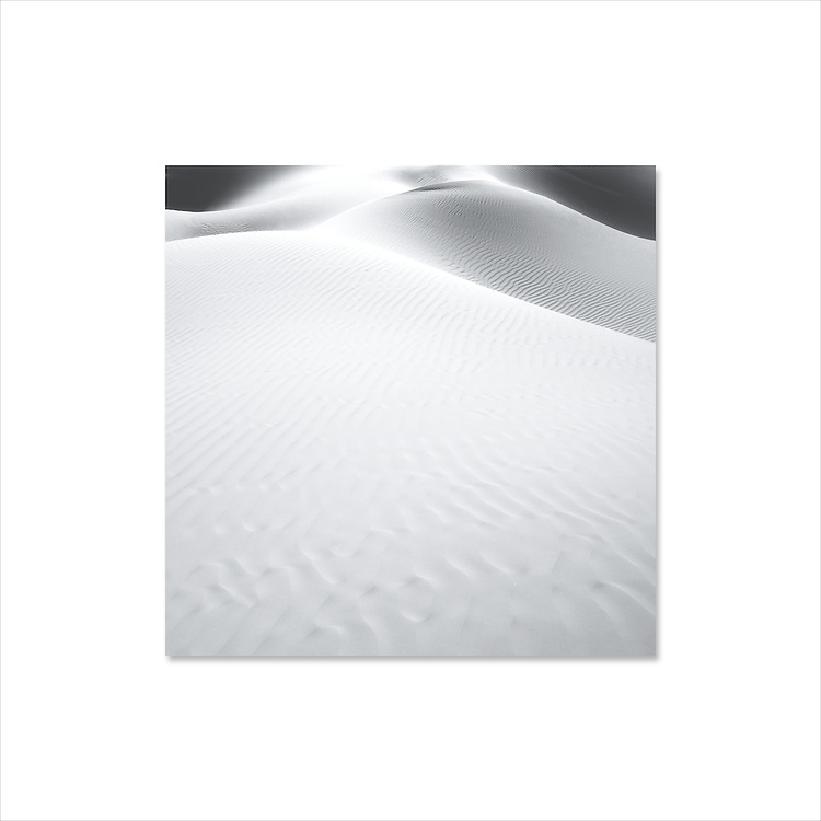 Desert sand dunes.