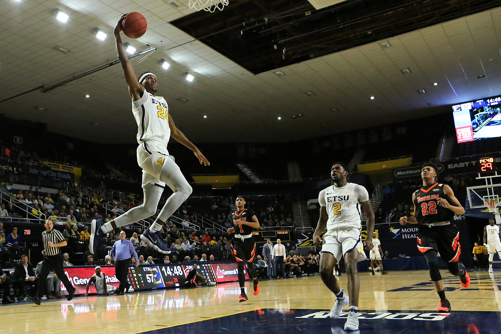 December 28, 2017 - Johnson City, Tennessee - Freedom Hall: ETSU guard Jermaine Long (24)<br /> <br /> Image Credit: Dakota Hamilton/ETSU