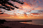 Cottesloe beach sunset, shot from the lawn on the hill overlooking the beach.