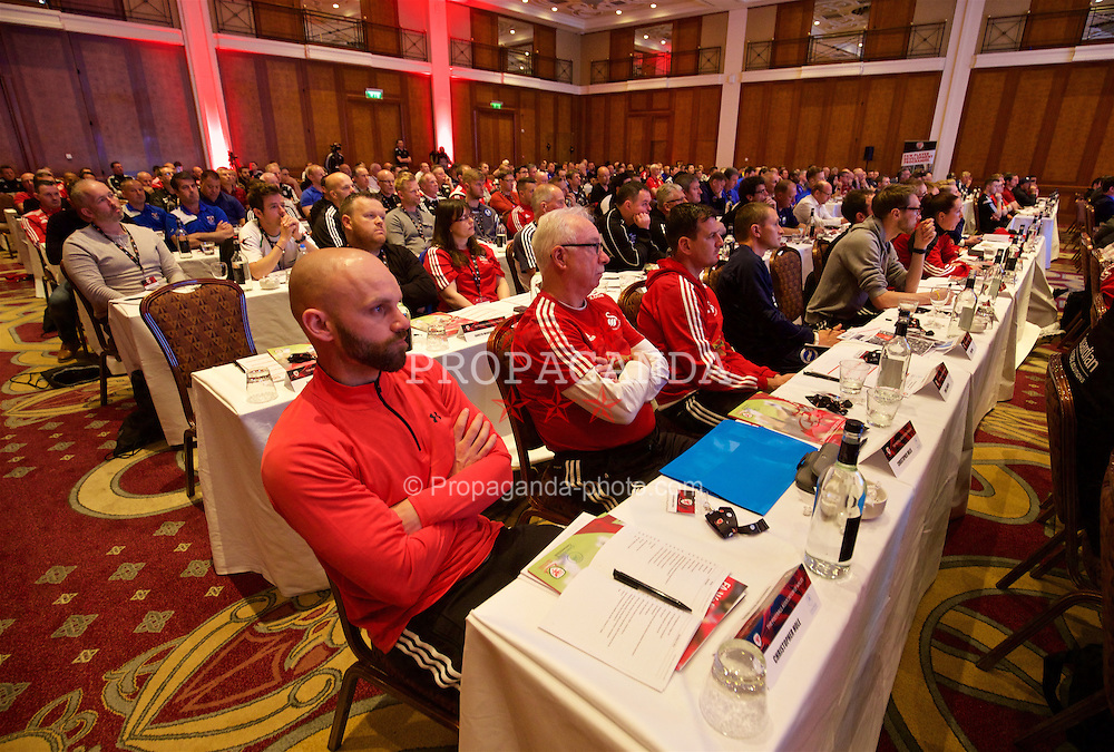 NEWPORT, WALES - Friday, May 20, 2016: Delegates during the Football Association of Wales' National Coaches Conference 2016 at the Celtic Manor Resort. (Pic by David Rawcliffe/Propaganda)