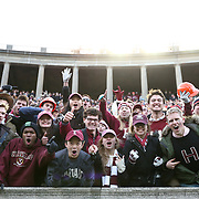 "The Harvard football team plays against Yale in the 131st playing of ""The Game"" at Harvard Stadium on November 22, 2014 in Boston, Massachusetts. (Photo by Elan Kawesch/Harvard University)"