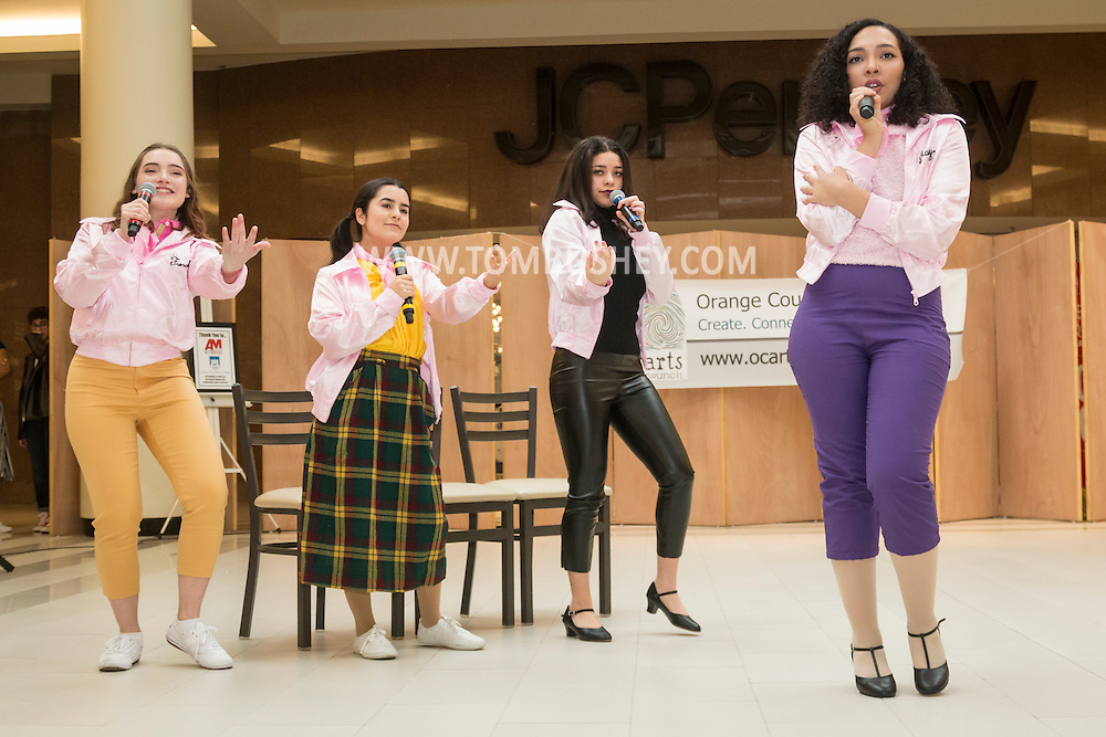 "Town of Wallkill, New York - Newburgh Free Academy students perform a sample of the musical ""Grease"" in the 2017 All-County Musical Showcase and Visual Arts Display at the Galleria at Crystal Run on Feb. 25, 2017."