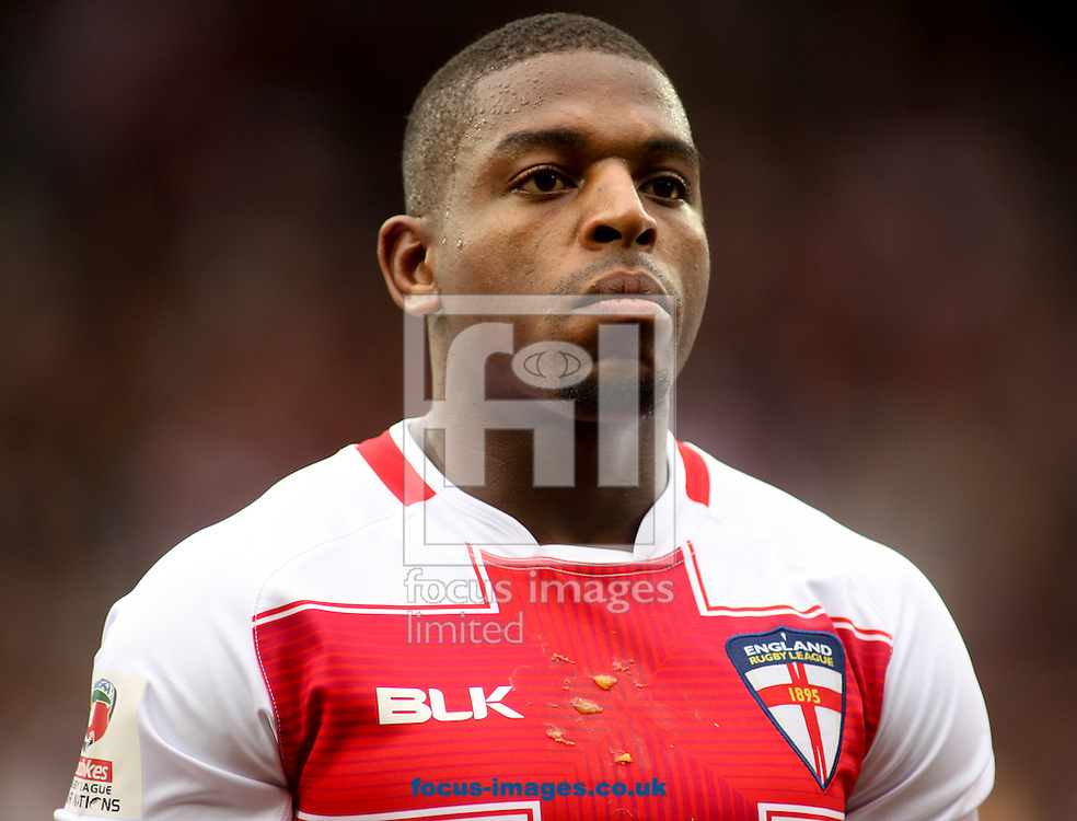 Jermaine McGillvary  of England during the 2016 Ladbrokes Four Nations match at the John Smiths Stadium, Huddersfield<br /> Picture by Stephen Gaunt/Focus Images Ltd +447904 833202<br /> 29/10/2016