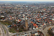 Nederland, Limburg, Roermond, 15-11-2010;.Centrium Roermond met de Christoffelkathedraal. The center of the ciry of Roermond and its Christoffel cathedral. luchtfoto (toeslag), aerial photo (additional fee required).© foto/photo Siebe Swart