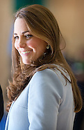 19-1-2015 - LONDON  The Duchess of Cambridge , catherine  Kate visits Kensington Aldridge Academy in Londen . COPYRIGHT ROBIN UTRECHT
