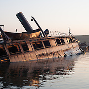 Steam Ferry New Bedford, requisitioned in WW2 and survived a German torpedo attack because of its shallow draft. 2006