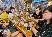 China, Sichuan. Chengdu. Chuan Chuan Xiang 串串香 hotpot restaurant.