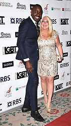 Ben Ofoedu and Vanessa Feltz  attend The British LGBT Awards at The Landmark Hotel, London on Friday 24 April 2015