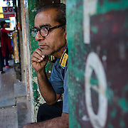 "March 17,2015. Babloo Sahu from Chakradharpur, Jharkand. He was working as a security guard in Panjim, Goa when I photogrpahed him in early 2015. It was a dialipdated building on 18th June Road in Panjim. ""My job is to make sure no one entered it becuse it may fall any time"" he said. He didn't know his age."