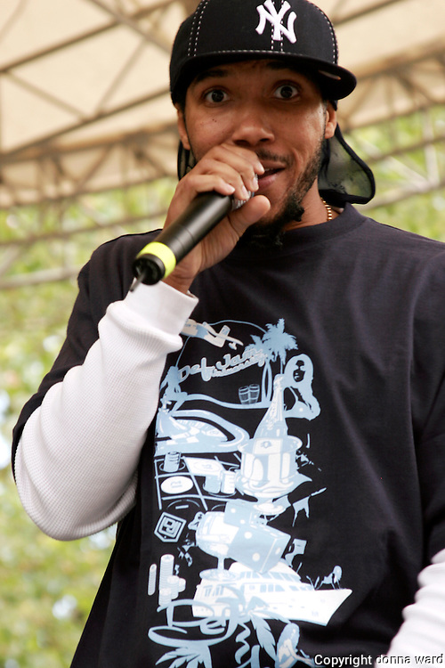 Lyfe Jennings performs at Central Park SummerStage on June 18, 2005.