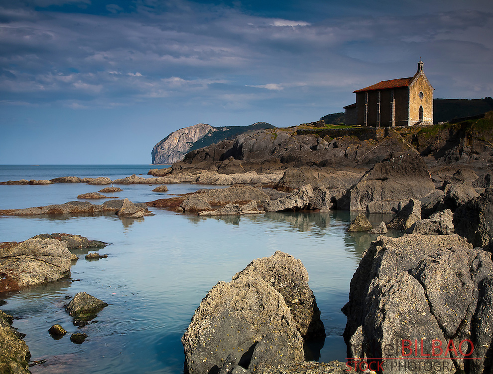 Santa Catalina church.<br /> Mundaka. Biscay, Basque Country, Spain.