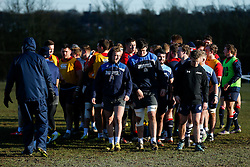 Bristol Rugby Academy players including Andy Uren and John Hawkins join in during an England U20 session at Bristol Rugby's training facility ahead of the U20 Six Nations match versus Wales - Mandatory byline: Rogan Thomson/JMP - 08/03/2016 - RUGBY UNION - Clifton Rugby Club - Bristol, England - England Under 20s Training at Bristol Rugby.