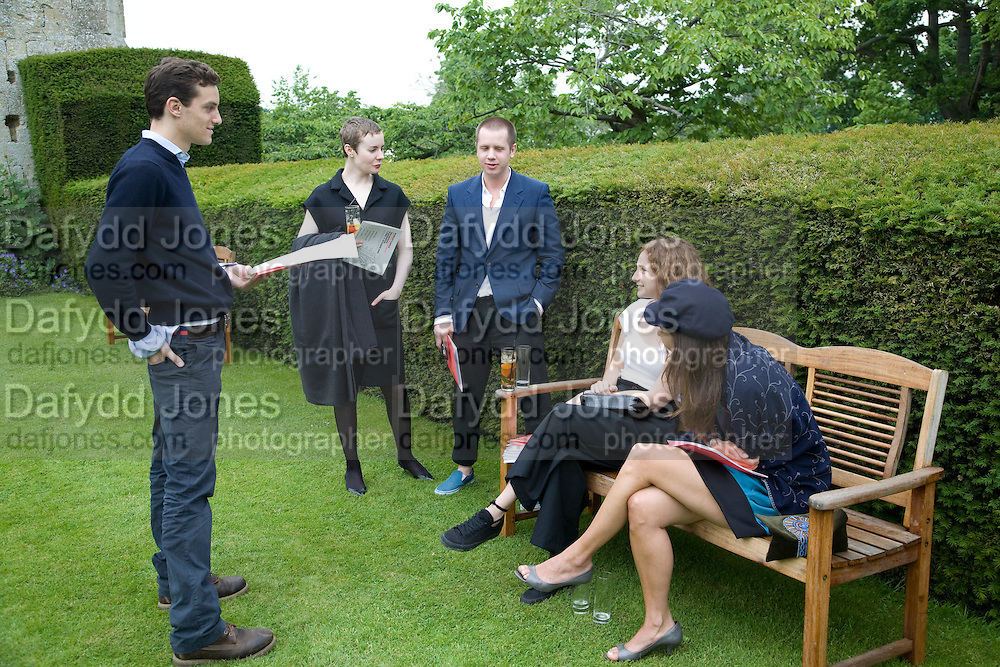 RAPHAEL LEPINE, VERITY SOPER, MARCUS MACDONALD, LIZ KABLER AND TAMARA CORM. The Artists' Playground. Reconstruction 3: Contemporary Art at Sudeley Castle, 2008 In partnership with Phillips de Pury & Company and supported by Chanel. 31 May 2008. *** Local Caption *** -DO NOT ARCHIVE-© Copyright Photograph by Dafydd Jones. 248 Clapham Rd. London SW9 0PZ. Tel 0207 820 0771. www.dafjones.com.