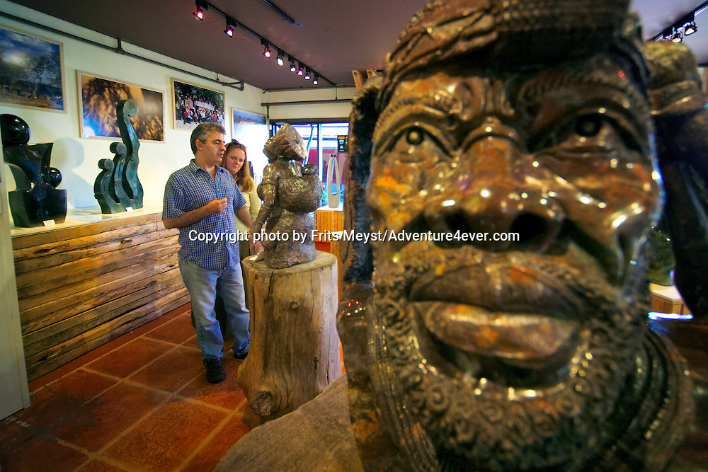 Vancouver, BC, Canada, August 2006. 'Stone Age' African Art Gallery on Granville Island. Squeezed in between the Rocky Mountains and the Pacific Ocean, Vancouver has a special feel. Photo by Frits Meyst/Adventure4ever.com