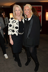"Left to right, director of the British Film Institute AMANDA NEVILL and AMANDA ELIASCH at a private screening Of ""The Gun, The Cake and The Butterfly"" hosted by Amanda Eliasch at The Bulgari Hotel, 171 Knightsbridge, London on 24th March 2014."