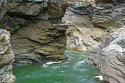 cascade gorge river rock erosion
